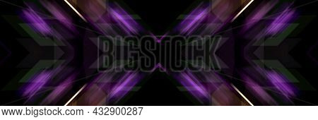 Luminous Lines Of An Oblique Cross. Abstract Futuristic Background.