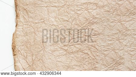 Japanese Abstract Paper Texture.beige Paper On White Background. Close Up.
