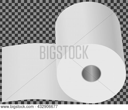 Toilet Paper Flat Vector Illustration. Special Paper For Wiping. Paper Product Is Used For Sanitary