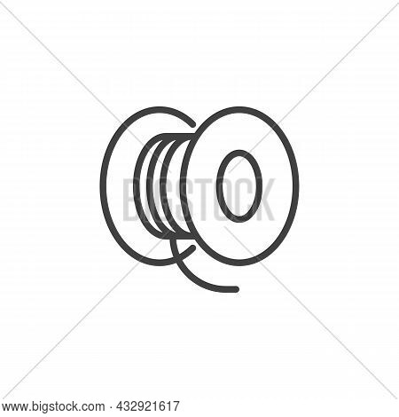 Vape Wire Line Icon. Linear Style Sign For Mobile Concept And Web Design. Vaping Coil Outline Vector