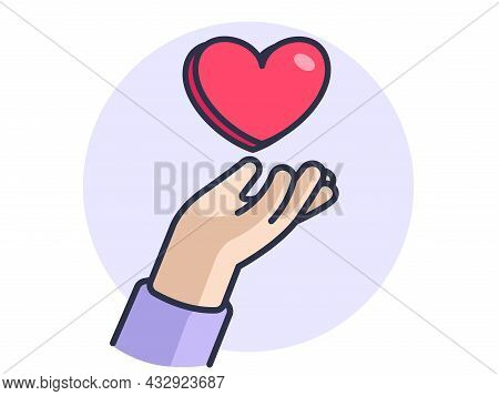 Hand Gestures, Giving Love And Care To Each Other, Share Love, Little Hearts, Vector Design And Isol