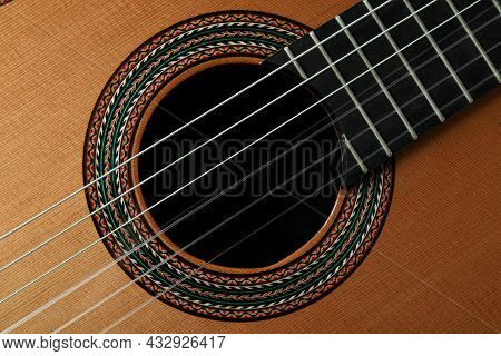 Classical Guitar All Over Background, Close Up