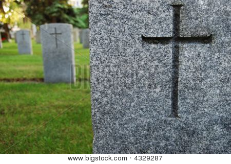 Gravestone With Cross