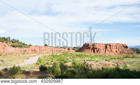 Sunny Landscape With Mountains And Treesl. Clays Park, Surrounding Teruel, Aragon, Spain, Europe