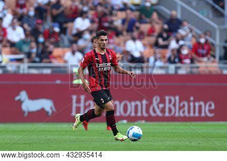 Milano, Italy. 12 September 2021. Brahim Diaz Of Ac Milan  During The Serie A Match Between Ac Milan