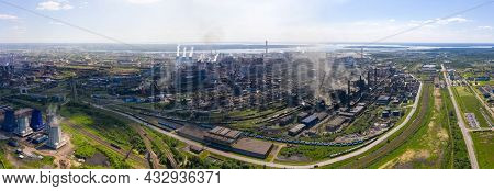 Panorama Of Blast Furnaces And Other Elements Of The Black Metallurgical Industries And The Chemical