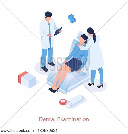 Dental Examination And Prophylaxis. Doctor Examines Patients Mouth. Treatment And Therapy Of Teeth A