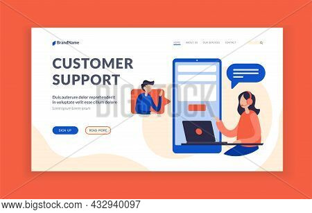 Customer Support. Technical Consultant Assistance On User Request. Hotline For Solving Problems With