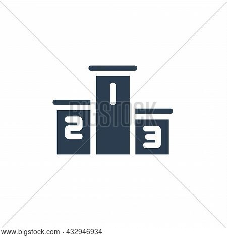 Empty Winners Podium, First, Second, Third Place, Award Ceremony Solid Flat Icon. Vector Illustratio