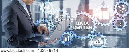 Data Center Mainframe Server Hardware Infrastructure Information Communication Technology Internet C