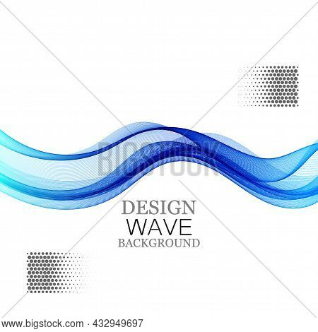 Abstract Vector Background With Smooth Color Wave. Smoke Wavy Lines