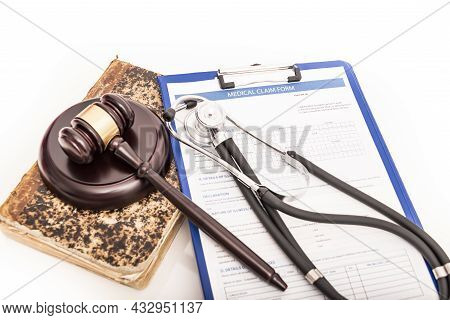 Medical Injury Claim Form. Medical Negligence Claim And Claim For Compensation