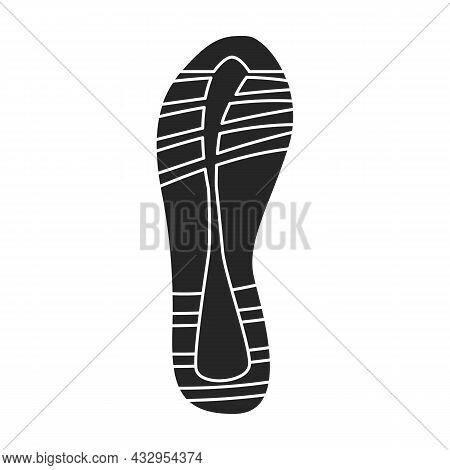 Footprint Vector Icon.black Vector Icon Isolated On White Background Footprint.