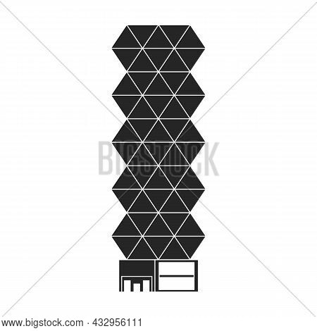 High Buildings Vector Icon.black Vector Icon Isolated On White Background High Buildings.