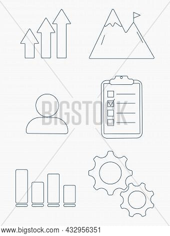 Editable Line Icon In A Outline Black Stroke In Eps Vector Of Getting Better At A Job Or General Per