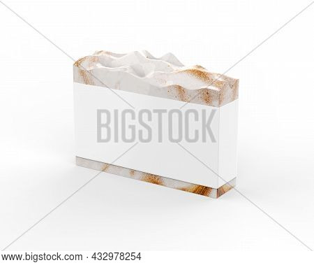 Hand Crafted Organic Soap With Blank Label, Handmade Natural Soap With Sleeve Mockup For Design And