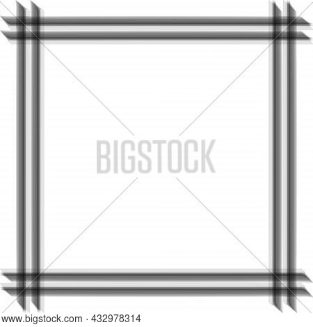 Abstract Blurred No Focus Photo Frame, Vector Square Frame No Focus