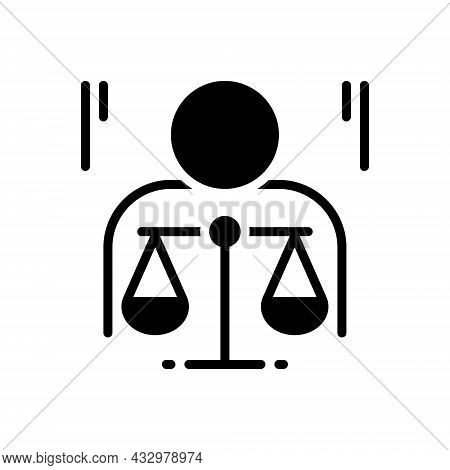 Black Solid Icon For Ethics Morality Politics Principle Law Justice Balance Honorable