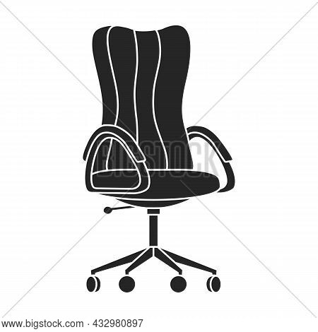 Chair Of Furniture Vector Icon.black Vector Icon Isolated On White Background Chair Of Furniture .
