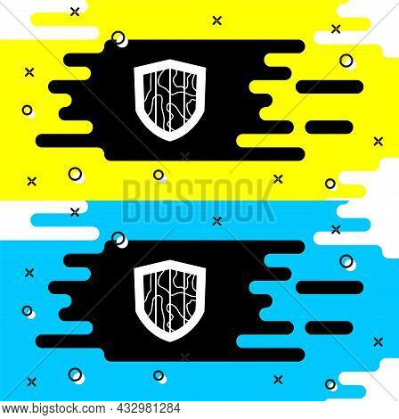 White Shield Icon Isolated On Black Background. Guard Sign. Security, Safety, Protection, Privacy Co