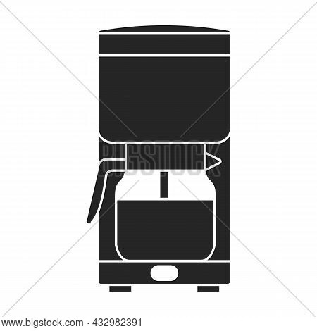Coffee Maker Vector Icon.black Vector Icon Isolated On White Background Coffee Maker .