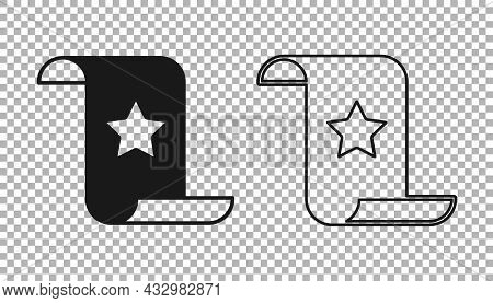 Black Paper Check And Financial Check Icon Isolated On Transparent Background. Paper Print Check, Sh