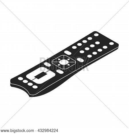 Remote Control Vector Icon. Black Vector Icon Isolated On White Background Remote Control.
