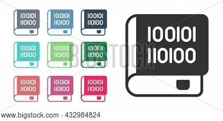 Black Books About Programming Icon Isolated On White Background. Programming Language Concept. Php,