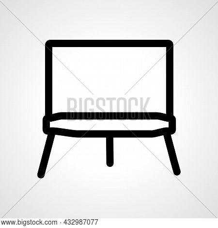 Art Canvas Vector Line Icon. Art Canvas Linear Outline Icon.