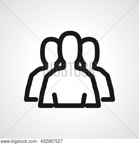 Teamwork Icon Business Pictogram Vector Line Icon. Teamwork Linear Outline Icon.