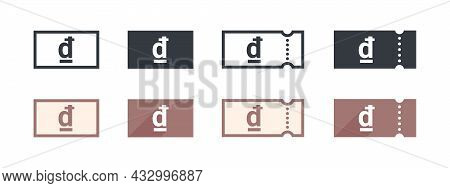 Vietnamese Dong Money Sign. Vietnamese Dong Coupon. Sign Of Payment By The Vietnamese Dong. Vector I