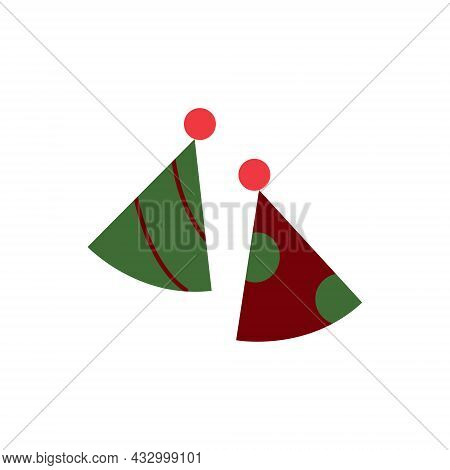 Vector Party Hats Icons. Hats Colorful  Illustration. 10 Eps Illustartion. Christmas Or New Year Par