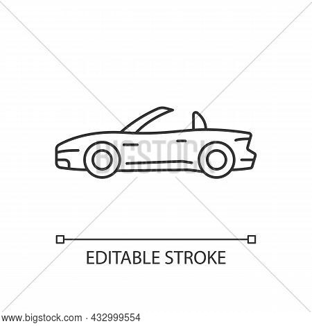 Customized Sports Car Linear Icon. Designing Vehicle For Street Racing. Upgrading Performance. Thin