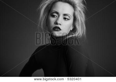 Fine Art Portrait Of Elegant Girl