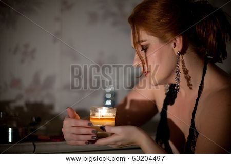 Woman And Candle