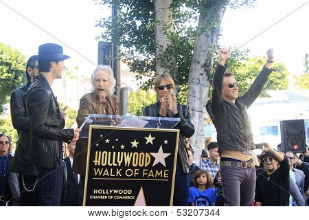 LOS ANGELES - OCT 30: Perry Farrell, Dave Navarro, John Densmore, Stephen Perkins, Chris Chaney as 'Jane's Addiction' was honored with a star on the Walk of Fame on October 30, 2013 in Los Angeles, CA