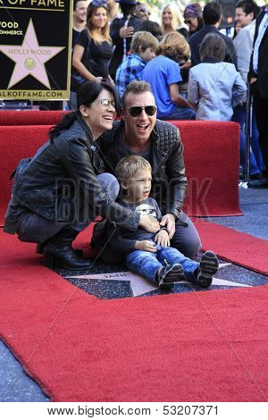 LOS ANGELES - OCT 30: Stephen Perkins at a ceremony where 'Jane's Addiction' was honored with a star on the Hollywood Walk of Fame on October 30, 2013 in Los Angeles, California