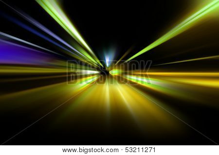 abstract acceleration speed motion on night road poster