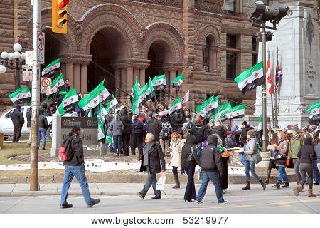 Syrian Demonstrators in Toronto