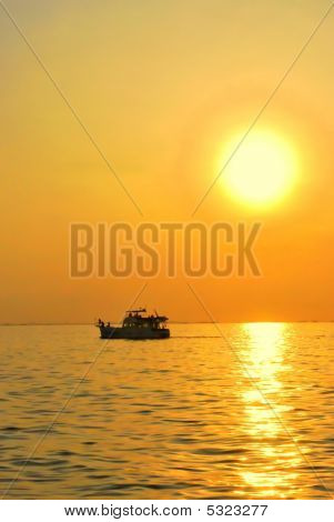 Boat And The Sun