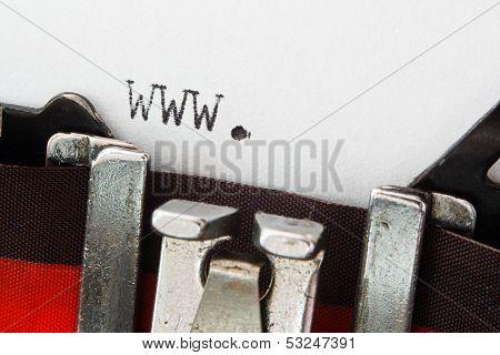 Website Prefix On Retro Typewriter