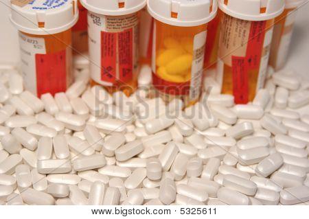 Prescription Pills And Pill Bottles