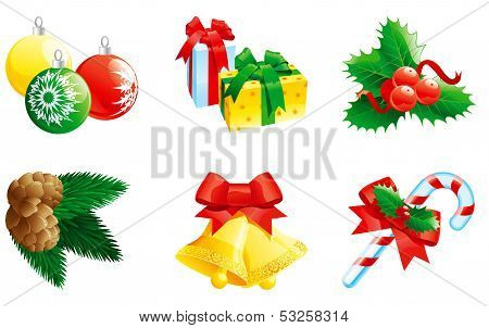set of christmas icon