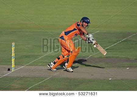 SOUTH AFRICA - DECEMBER 22: Unidentified player during a one-day cricket match between the Eagles and Titans (Titans won by four wickets) on December 22, 2009 in Bloemfontein, South Africa