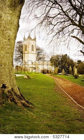 Saint Patrick Church On Sacred Land Of Tara Hill In Ireland