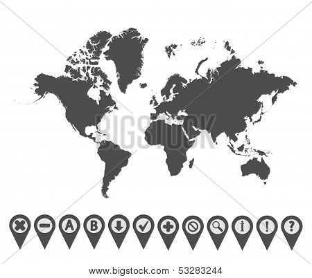 World map icon 1