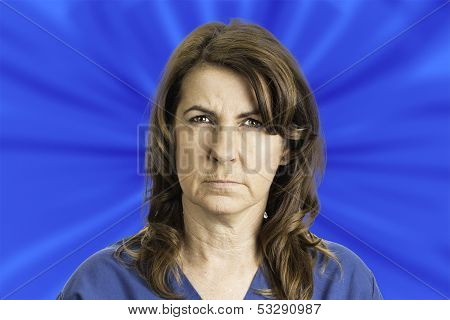 Woman With An Angry Face