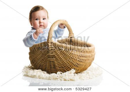 Baby Inside The Basket