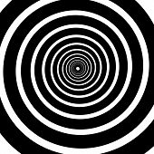 Black and white tunnel vector background. This is file of EPS10 format. poster