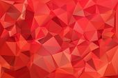Red abstract background polygon. Geometric backdrop. This is file of EPS8 format. poster